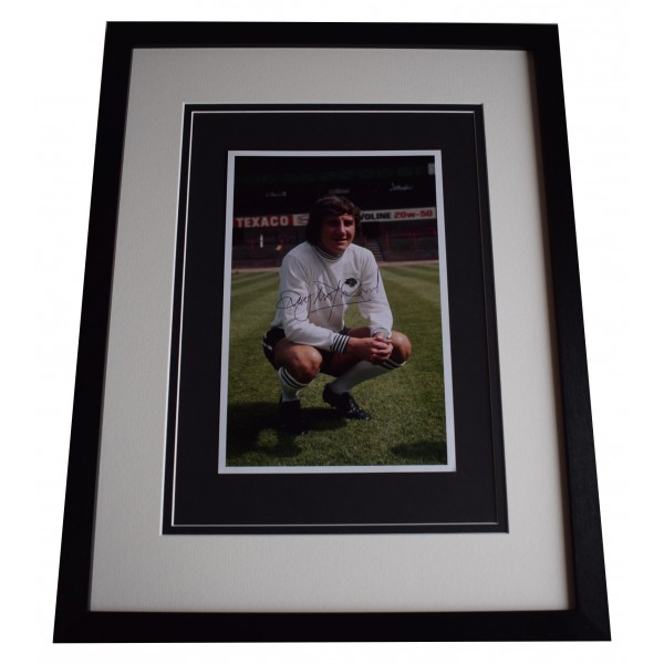 Roy McFarland Signed Framed Autograph 16x12 photo display Derby County COA Perfect Gift Memorabilia