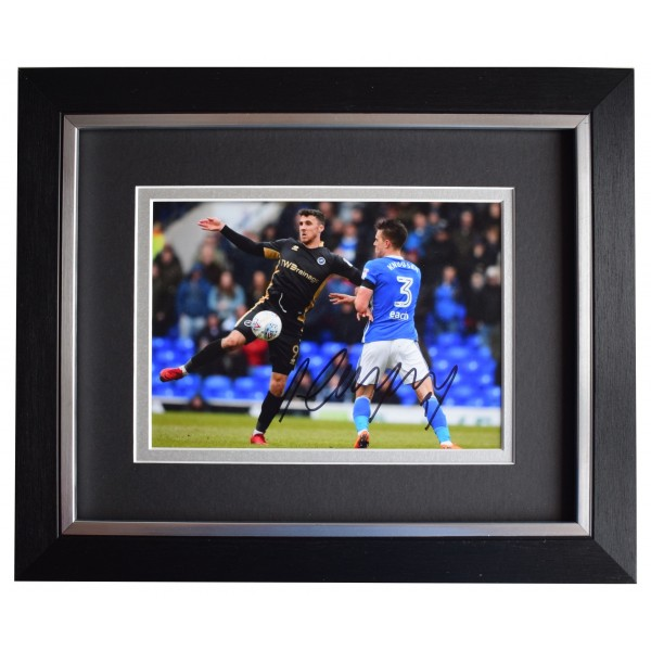 Lee Gregory Signed 10x8 Framed Photo Autograph Display Millwall Sport COA Perfect Gift Memorabilia