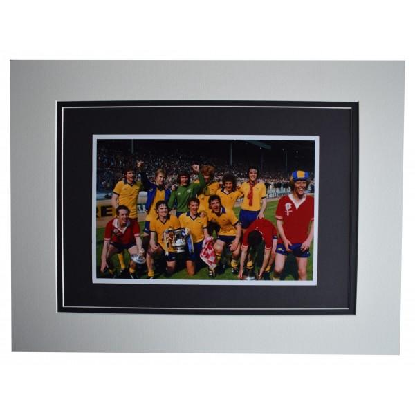 Brian Talbot Signed autograph 16x12 photo display Arsenal Football COA Perfect Gift Memorabilia