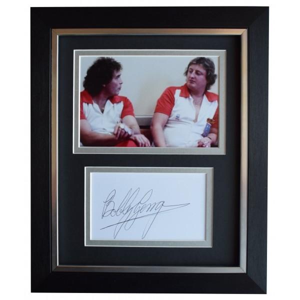 Bobby George Signed 10x8 Framed Autograph Photo Display Darts Sport COA Perfect Gift Memorabilia