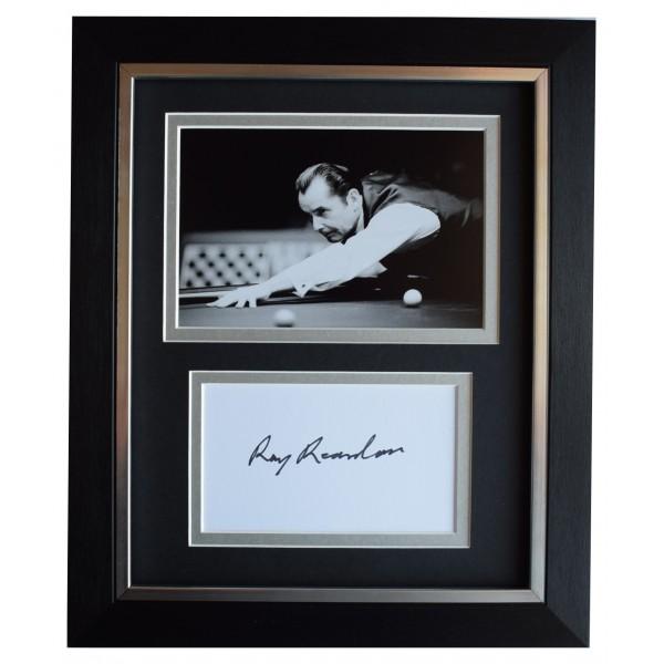 Ray Reardon Signed 10x8 Framed Autograph Photo Display Snooker Sport COA Perfect Gift Memorabilia