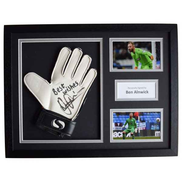 Ben Alnwick Signed FRAMED Goalkeeper Glove 16x12 photo display Bolton Wanderers Perfect Gift Memorabilia