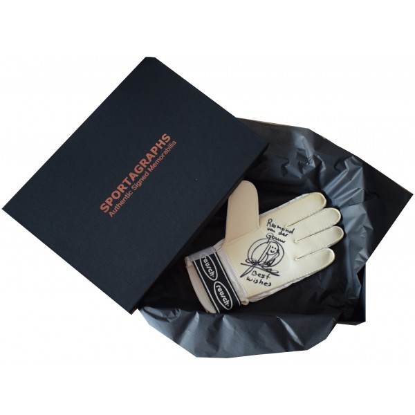 Raimond van der Gouw SIGNED Goalkeeper Glove Autograph Gift Box Manchester Utd Perfect Gift Memorabilia
