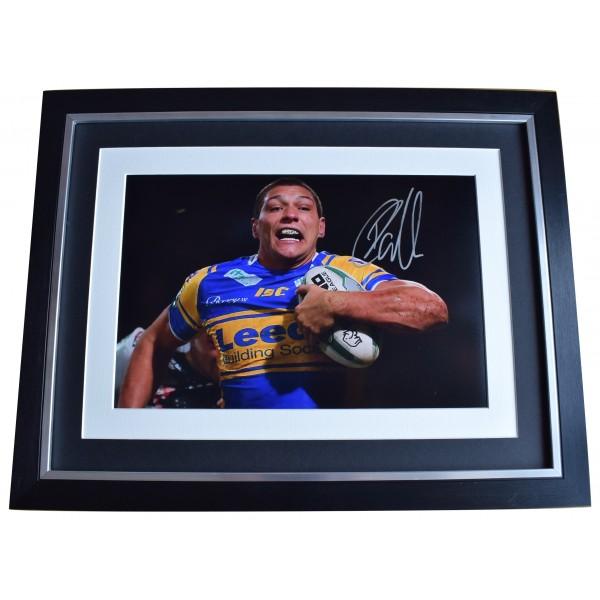Ryan Hall Signed Autograph 16x12 framed photo display Leeds Rhinos Rugby COA Perfect Gift Memorabilia