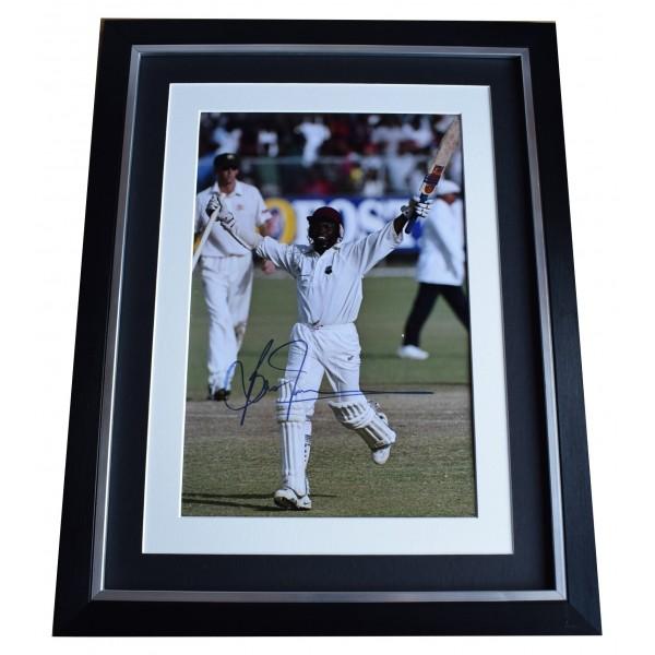 Brian Lara Signed Autograph 16x12 framed photo display Cricket Sport COA Perfect Gift Memorabilia