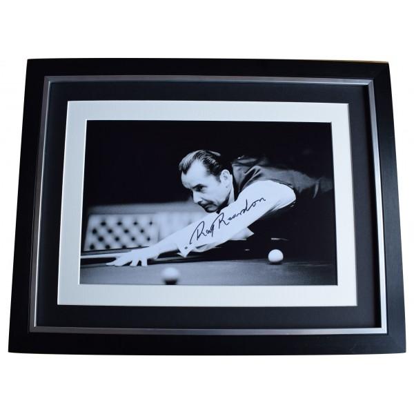 Ray Reardon Signed Autograph 16x12 framed photo display Snooker Sport COA Perfect Gift Memorabilia