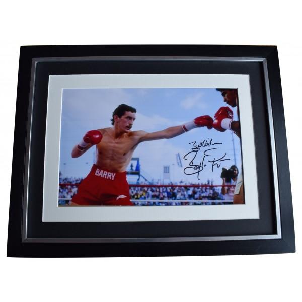 Barry McGuigan Signed Autograph 16x12 framed photo display Boxing AFTAL COA Perfect Gift Memorabilia