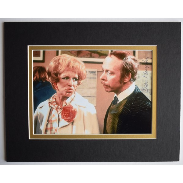 Brian Murphy Signed Autograph 10x8 photo display George & Mildred AFTAL COA Perfect Gift Memorabilia