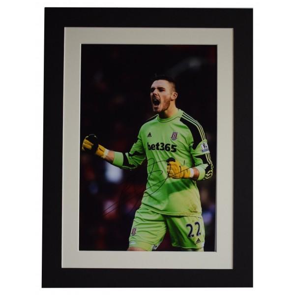 Jack Butland Signed autograph 16x12 photo display Stoke City AFTAL COA Perfect Gift Memorabilia