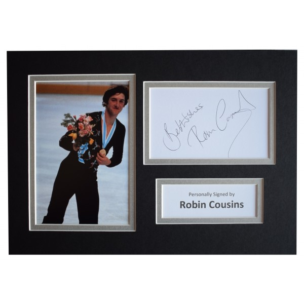 Robin Cousins Signed Autograph A4 photo display Olympic Skating Sport AFTAL COA  Perfect Gift Memorabilia