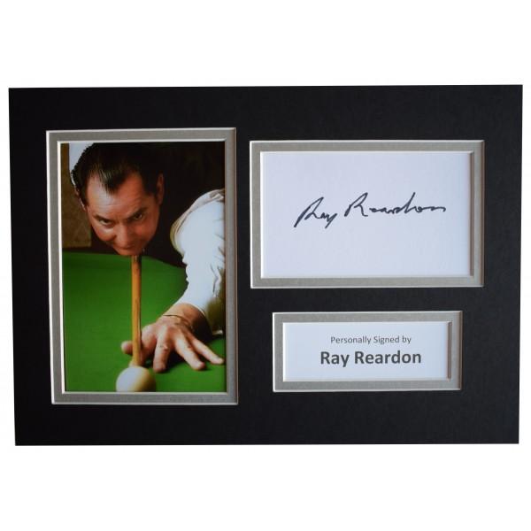 Ray Reardon Signed Autograph A4 photo display Snooker Sport AFTAL COA Perfect Gift Memorabilia