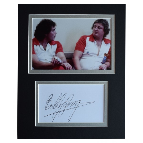 Bobby George Signed Autograph 10x8 photo display Darts Sport AFTAL COA Perfect Gift Memorabilia