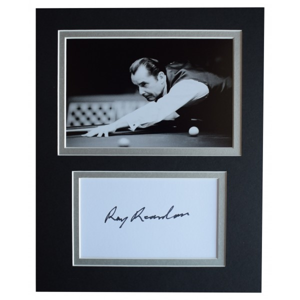 Ray Reardon Signed Autograph 10x8 photo display Snooker Sport AFTAL COA Perfect Gift Memorabilia