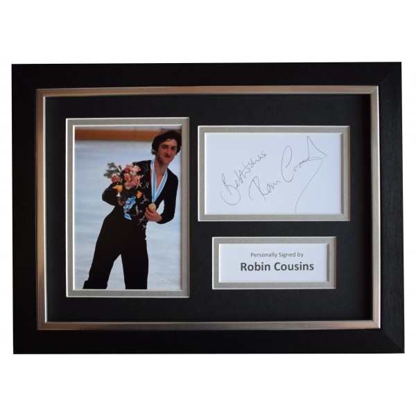 Robin Cousins Signed A4 Framed Autograph Photo Display Olympic Skating AFTAL COA Perfect Gift Memorabilia
