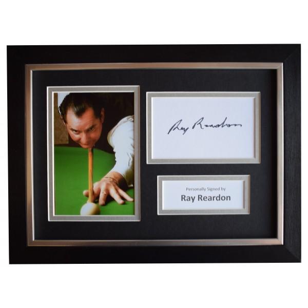 Ray Reardon Signed A4 Framed Autograph Photo Display Snooker Sport AFTAL COA Perfect Gift Memorabilia