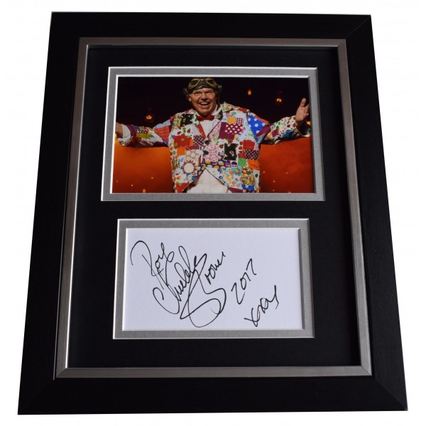 Roy Chubby Brown SIGNED 10x8 FRAMED Photo Autograph Display Comedy Perfect Gift Memorabilia