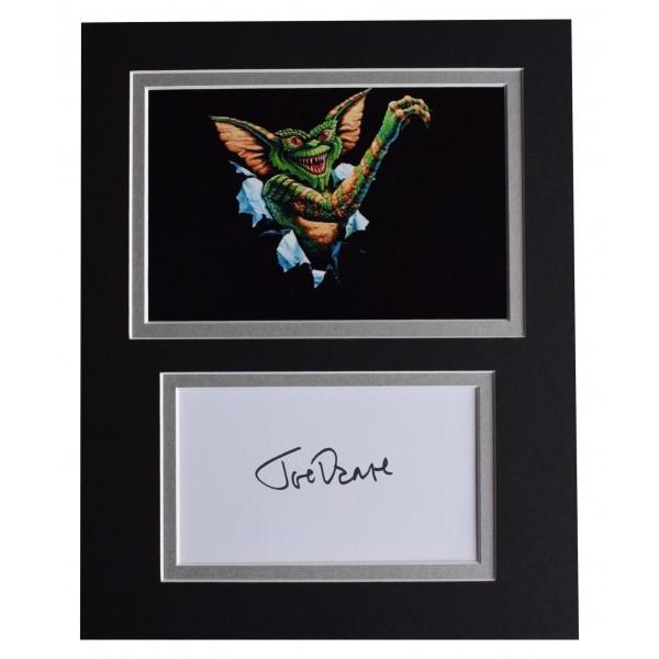 Joe Dante Signed Autograph 10x8 photo display Gremlins Perfect Gift Memorabilia
