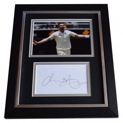 James Anderson SIGNED 10x8 FRAMED Photo Autograph Display Cricket Perfect Gift Memorabilia