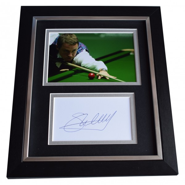 Stephen Hendry SIGNED 10x8 FRAMED Photo Autograph Display Snooker Perfect Gift Memorabilia