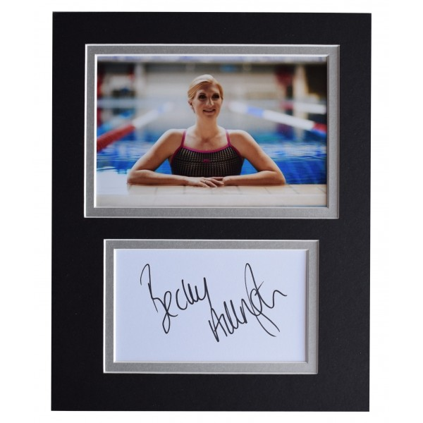 Rebecca Adlington Signed Autograph 10x8 photo display Olympic Swimming Perfect Gift Memorabilia