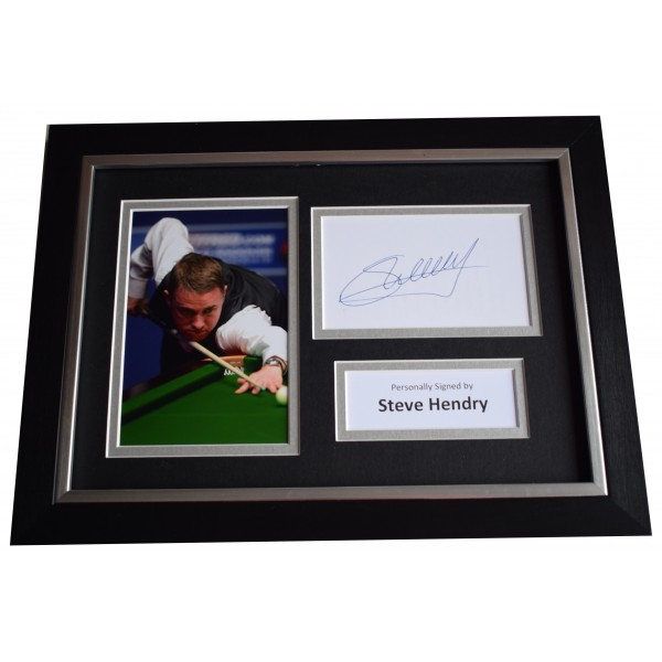 Stephen Hendry Signed A4 FRAMED Autograph Photo Display Snooker Perfect Gift Memorabilia