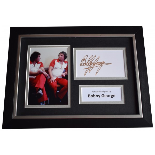 Bobby George Signed A4 FRAMED Autograph Photo Display Darts Perfect Gift Memorabilia
