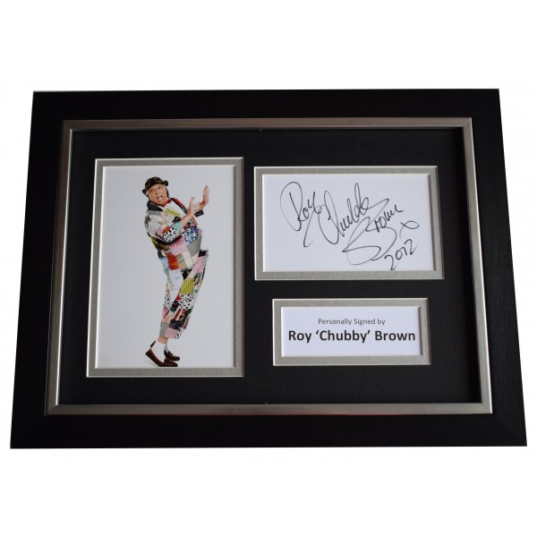 Roy 'Chubby' Brown Signed A4 FRAMED Autograph Photo Display Comedy Perfect Gift Memorabilia