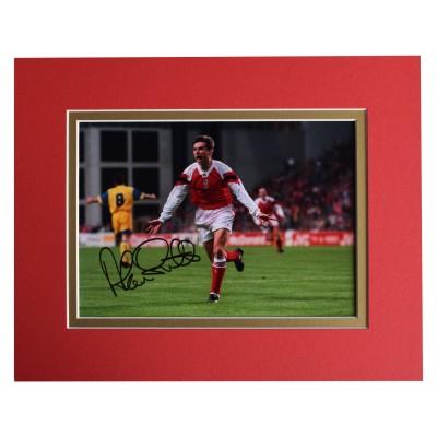 Alan Smith Signed Autograph 10x8 photo display Arsenal Football AFTAL COA  Perfect Gift Memorabilia