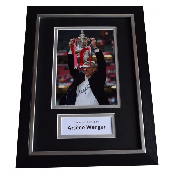 Arsene Wenger Signed A4 Framed Autograph Photo Display Arsenal Football COA Perfect Gift Memorabilia