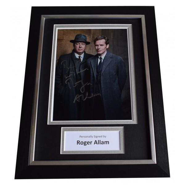 Roger Allam Signed A4 Framed Autograph Photo Display Endeavour TV AFTAL COA Perfect Gift Memorabilia