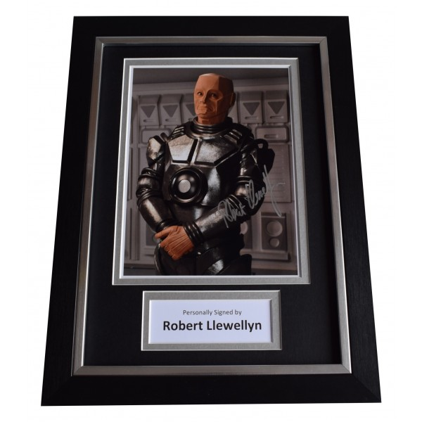 Robert Llewellyn Signed A4 Framed Autograph Photo Display Red Dwarf TV AFTAL COA Perfect Gift Memorabilia