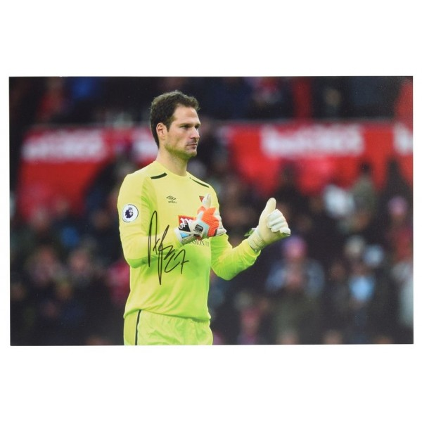 Asmir Begovic SIGNED 12x8 Photo Autograph Bournemouth Football AFTAL & COA