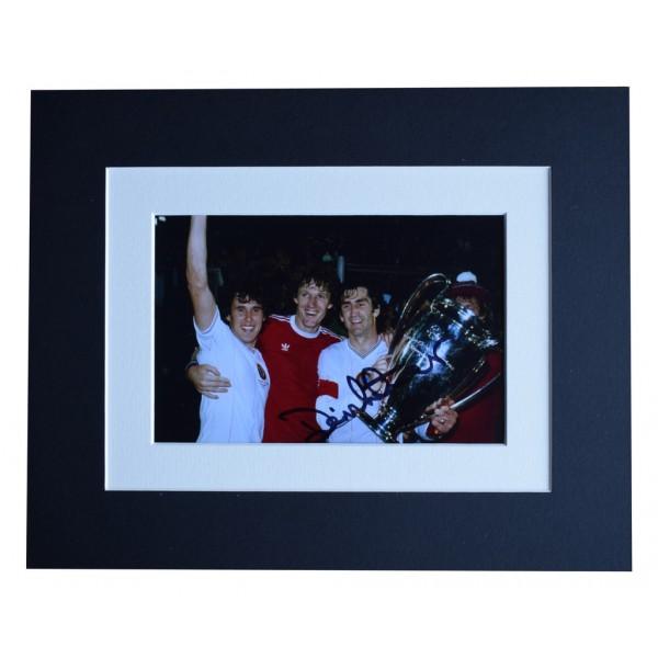 Dennis Mortimer Signed Autograph 10x8 photo display Aston Villa Football   AFTAL  COA Memorabilia PERFECT GIFT