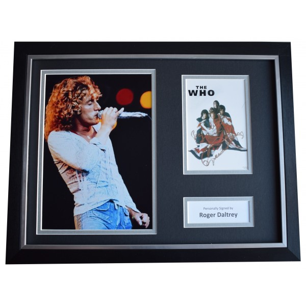 Roger Daltrey Signed Framed Autograph 16x12 photo display The Who Music COA Perfect Gift Memorabilia