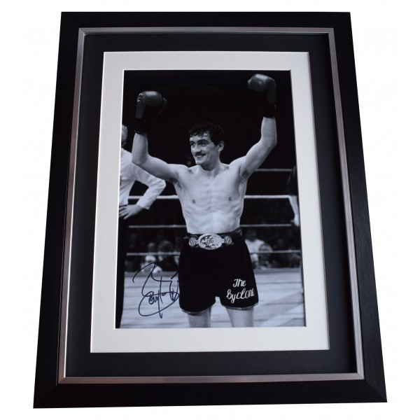 Barry McGuigan Signed Framed Autograph 16x12 photo display Boxing Sport COA Perfect Gift Memorabilia