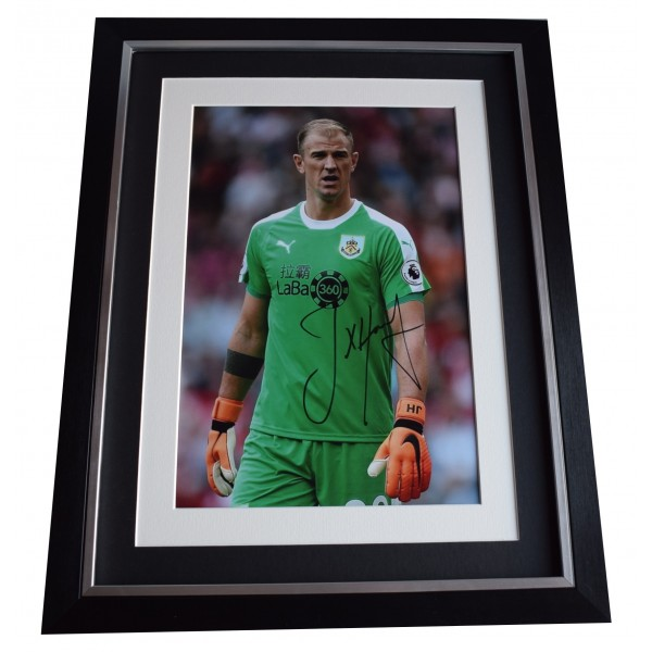 Joe Hart Signed Framed Autograph 16x12 photo display Burnley Football COA  Perfect Gift Memorabilia