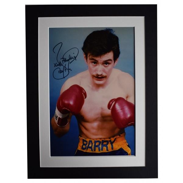 Barry McGuigan Signed autograph 16x12 photo display Boxing Sport COA Perfect Gift Memorabilia