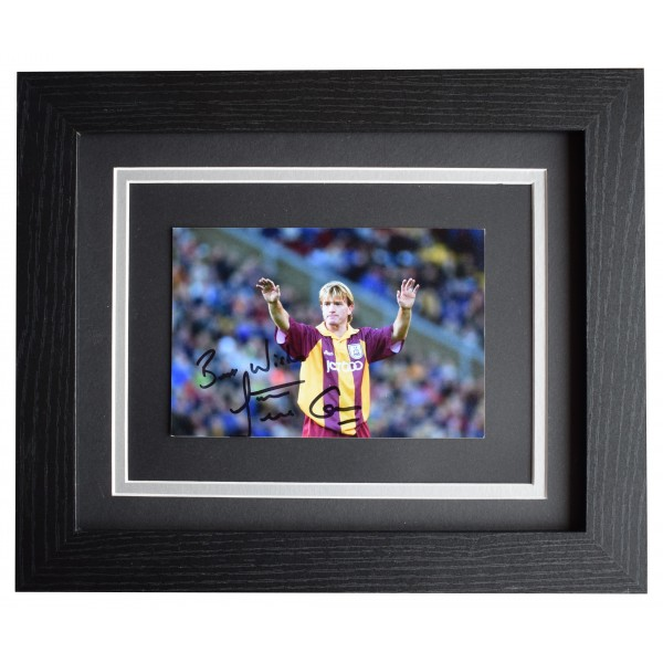 Stuart McCall Signed 10x8 Framed Photo Autograph Display Bradford City AFTAL COA Perfect Gift Memorabilia