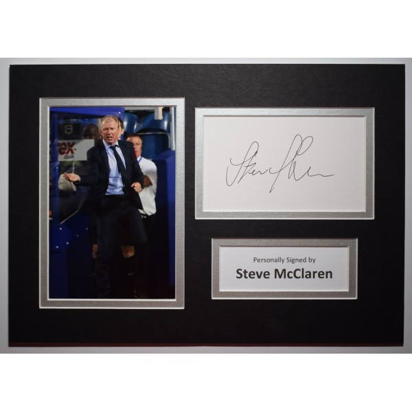 Steve McLaren Signed Autograph A4 photo Mount Display Queens Park Rangers COA Perfect Gift Memorabilia