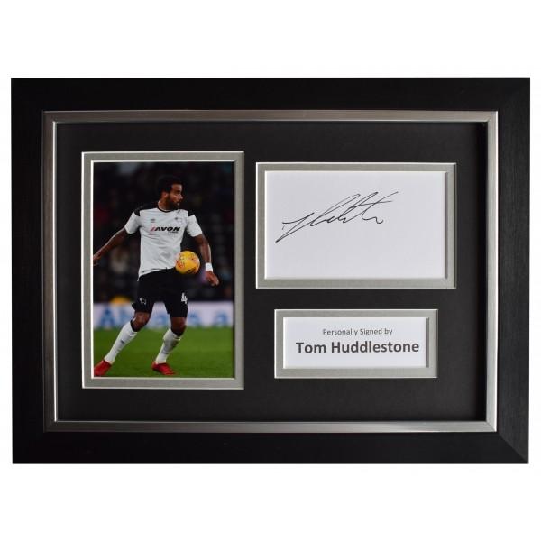 Tom Huddlestone Signed A4 Framed Autograph Photo Display Derby County AFTAL COA Perfect Gift Memorabilia