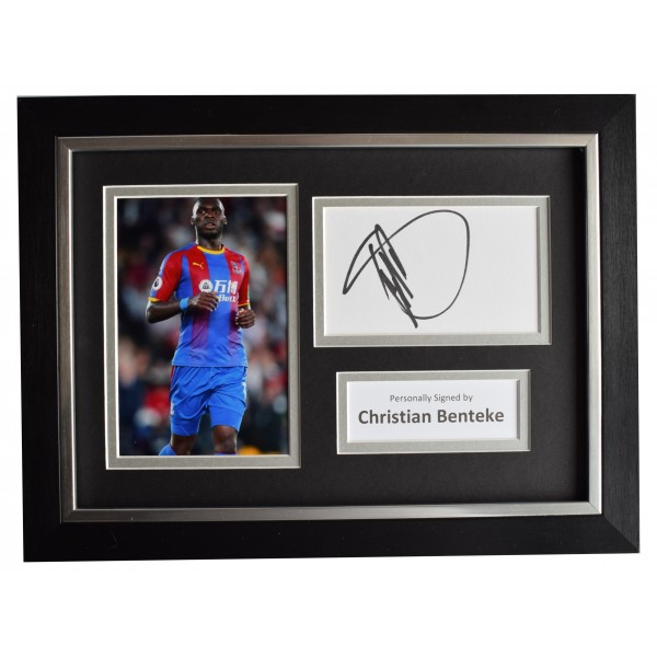 Christian Benteke Signed A4 Framed Autograph Photo Display Crystal Palace COA