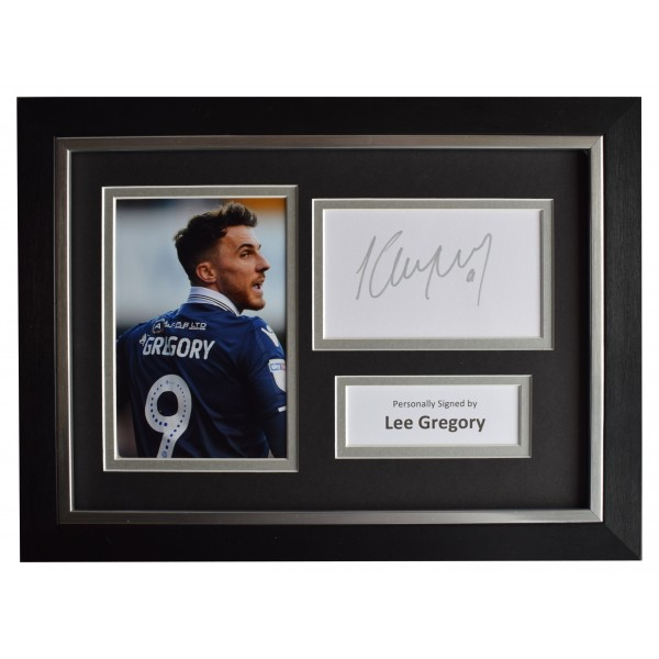 Lee Gregory Signed A4 Framed Autograph Photo Display Millwall Football AFTAL COA