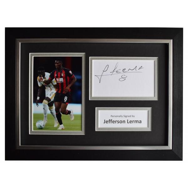 Jefferson Lerma Signed A4 Framed Autograph Photo Display Bournemouth AFTAL COA Perfect Gift Memorabilia