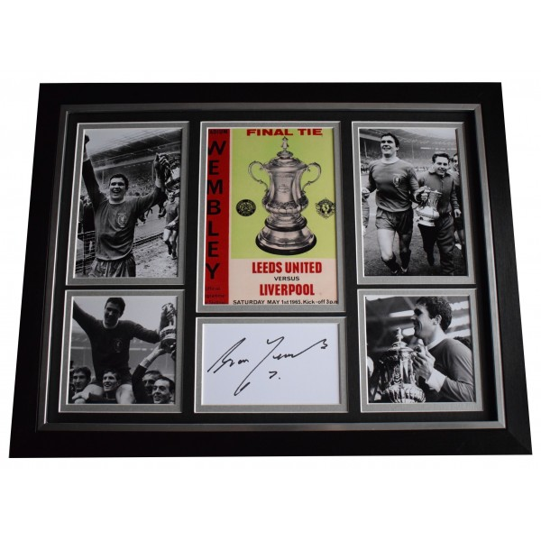 Ron Yeats Signed Framed Autograph 16x12 photo display 1965 FA Cup Liverpool Perfect Gift Memorabilia