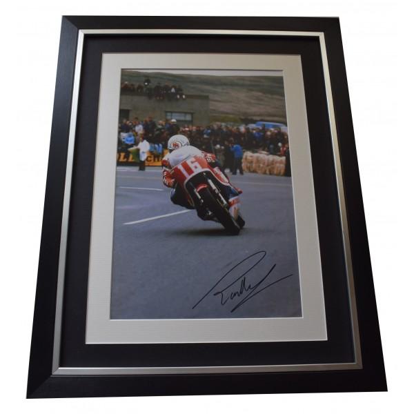Ron Haslam Signed Framed Autograph 16x12 photo display Superbikes Sport COA Perfect Gift Memorabilia