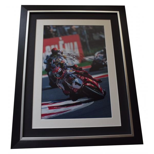 Carl Fogarty Signed Framed Autograph 16x12 photo display Superbikes Sport COA  Perfect Gift Memorabilia