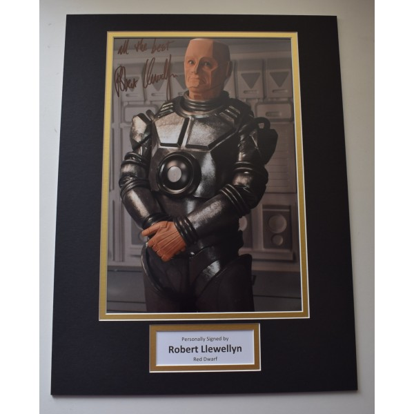 Robert Llewellyn Signed autograph 16x12 photo display Red Dwarf Film AFTAL COA  Perfect Gift Memorabilia