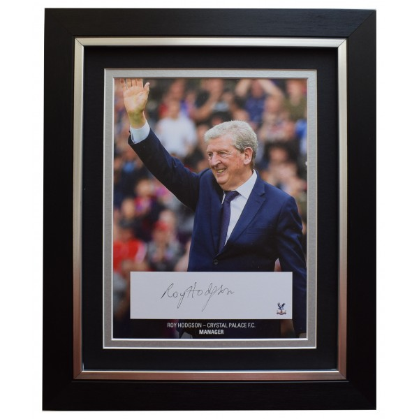 Roy Hodgson Signed 10x8 Framed Autograph Photo Display Crystal Palace AFTAL COA  Perfect Gift Memorabilia