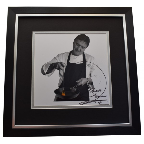 Raymond Blanc Signed Framed LARGE Square Photo Autograph display Michelin Chef  Perfect Gift Memorabilia