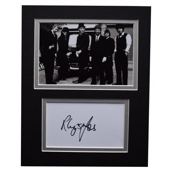 Rhys Ifans Signed Autograph 10x8 photo display Oasis Music Memorabilia COA Perfect Gift Memorabilia
